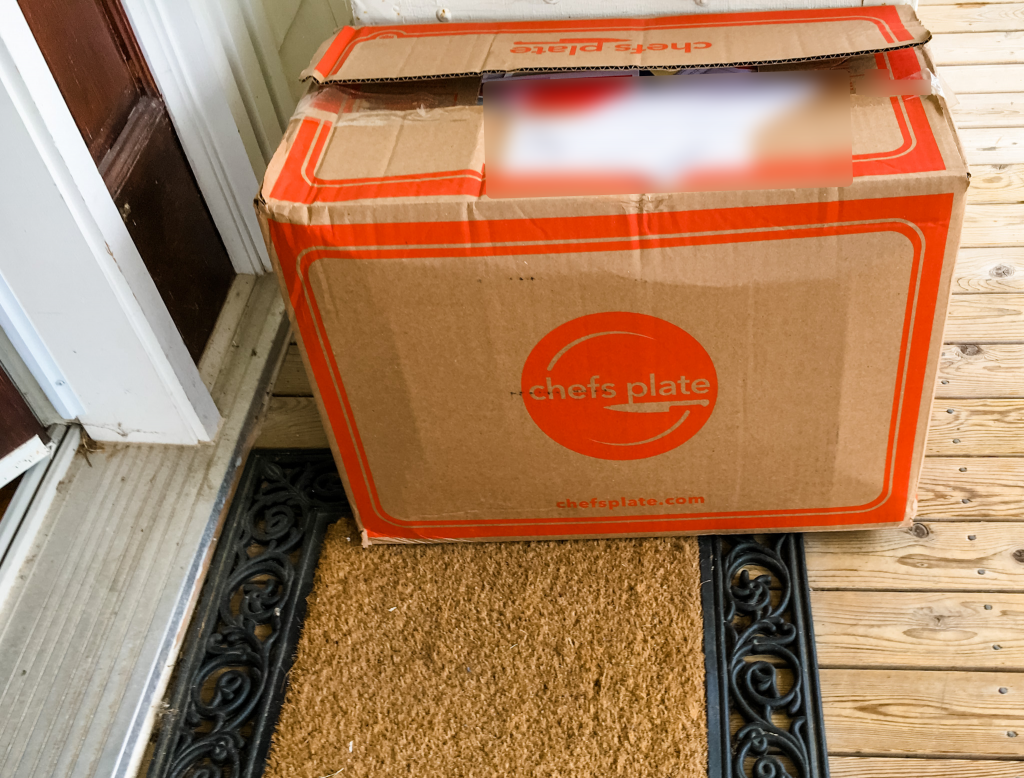 chefs plate meal kit box